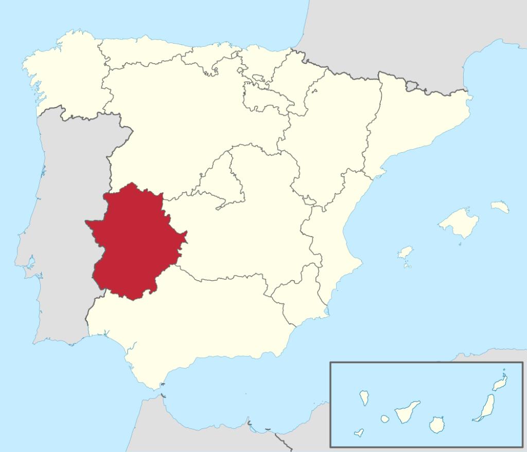 SPANIA DELICE Carte espagne estrémadure