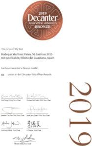 Spania Delice Vin 56B Prix decanter 2019