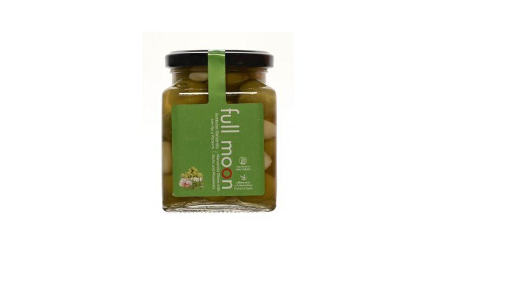Spania Delice Olives Vertes Manzanilla Cacerena avec ail et romarin