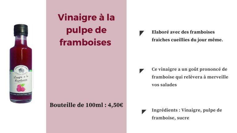 Spania Delice Vinaigre à la pulpe de framboises - Sabores del Guijo